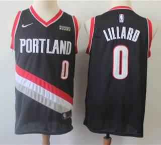 Men's Portland Trail Blazers #0 Damian Lillard Black Basketball Swingman Icon Edition Jersey