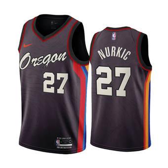 Men's Portland Trail Blazers #27 Jusuf Nurkic Chocolate City Edition 2020-21 Stitched Basketball Jersey