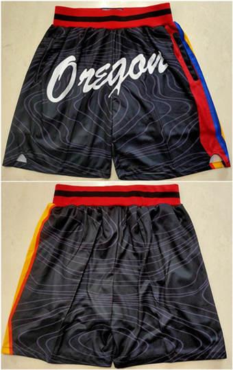 Men's Portland Trail Blazers Black Basketball Shorts (Run Smaller)