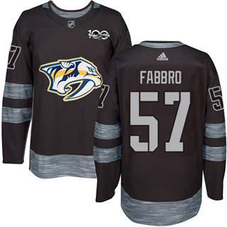 Men's Predators #57 Dante Fabbro Black 1917-2017 100th Anniversary Stitched Hockey Jersey