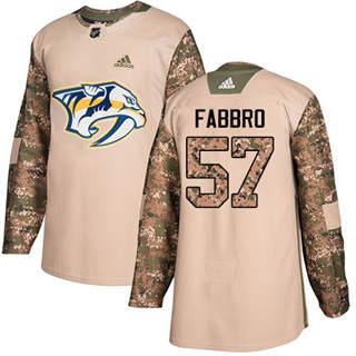 Men's Predators #57 Dante Fabbro Camo Authentic 2017 Veterans Day Stitched Hockey Jersey