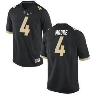 Men's Purdue Boilermakers #4 Rondale Moore Black 2019 College Football Jersey