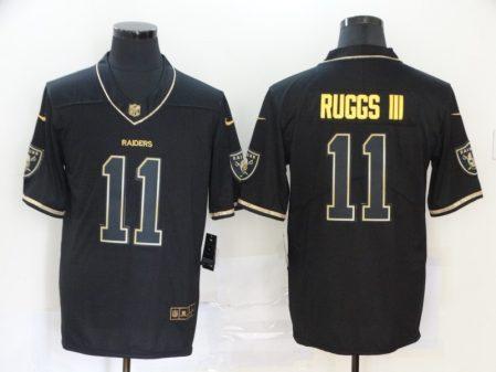 Men's Raiders #11 Henry Ruggs III Black Golden Edition Vapor Limited Football Jersey