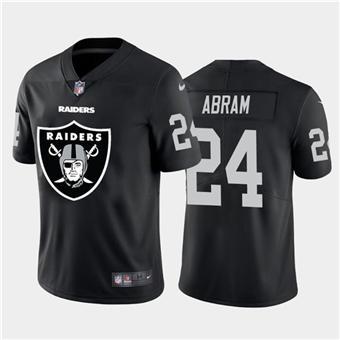 Men's Raiders #24 Johnathan Abram Black Football Team Big Logo Fashion Vapor Limited Jersey