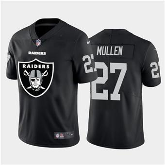 Men's Raiders #27 Trayvon Mullen Black Football Team Big Logo Fashion Vapor Limited Jersey