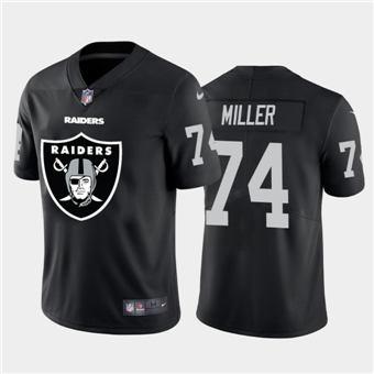 Men's Raiders #74 Kolton Miller Black Football Team Big Logo Fashion Vapor Limited Jersey