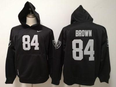 Men's Raiders #84 Antonio Brown Black Pullover Hoodie
