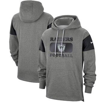 Men's Raiders 2019 Grey Fan Gear Historic Pullover Hoodie
