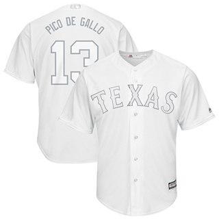 Men's Rangers #13 Joey Gallo White Pico de Gallo Players Weekend Cool Base Stitched Baseball Jersey