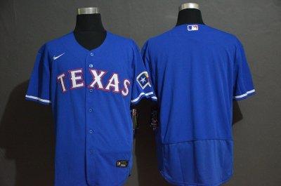 Men's Rangers Blank Royal 2020 Baseball Flexbase Jersey