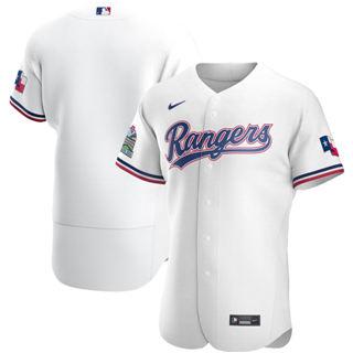 Men's Rangers Blank White 2020 Baseball Flexbase Jersey