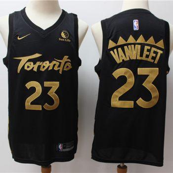 Men's Raptors #23 Fred VanVleet Black New 2019-2020 City Edition Swingman Basketball Jersey