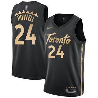 Men's Raptors #24 Norman Powell Black Basketball Swingman City Edition 2019-2020 Jersey