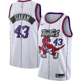 Men's Raptors #43 Pascal Siakam White Basketball Swingman Hardwood Classics Jersey