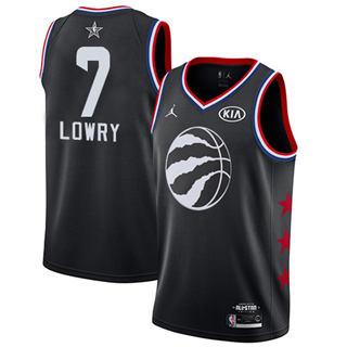 Men's Raptors #7 Kyle Lowry Black Basketball Jordan Swingman 2019 All-Star Game Jersey