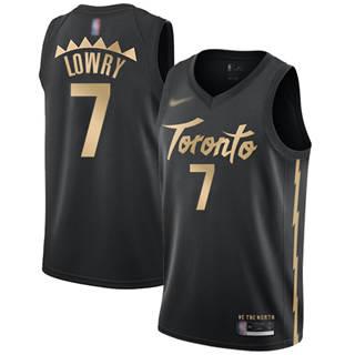 Men's Raptors #7 Kyle Lowry Black Basketball Swingman City Edition 2019-2020 Jersey