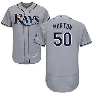 Men's Rays #50 Charlie Morton Grey Flexbase  Collection Stitched Baseball Jersey
