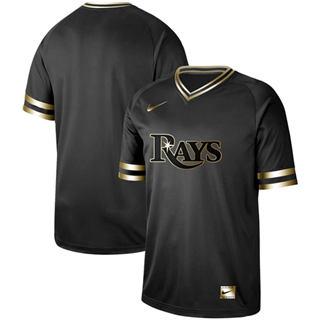 Men's Rays Blank Black Gold  Stitched Baseball Jersey