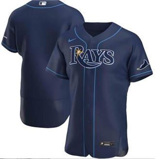 Men's Rays Blank Navy 2020 Baseball Flexbase Jersey