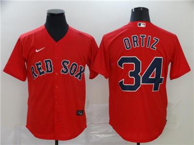 Men's Red Sox #34 David Ortiz Red 2020 Baseball Cool base Jersey