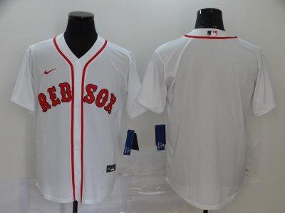 Men's Red Sox Blank White 2020 Baseball Cool Base Jersey