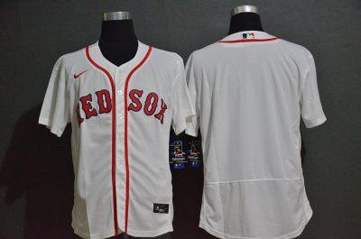 Men's Red Sox Blank White 2020 Baseball Flexbase Jersey
