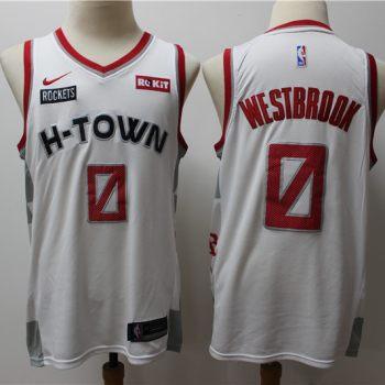 Men's Rockets #0 Russell Westbrook White New 2019-2020 City Edition Swingman Basketball Jersey