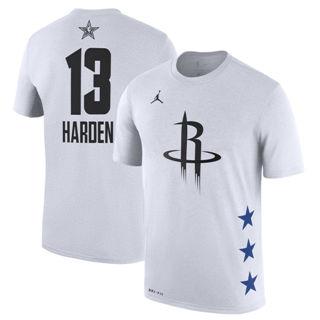 Men's Rockets 13 James Harden White 2019 Basketball All-Star Game T-Shirt