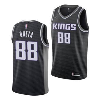 Men's Sacramento Kings #88 Neemias Queta Black Stitched Basketball Jersey
