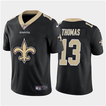 Men's Saints #13 Michael Thomas Black Football Team Big Logo Fashion Vapor Limited Jersey