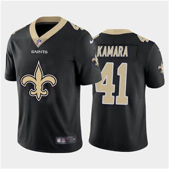 Men's Saints #41 Alvin Kamara Black Football Team Big Logo Fashion Vapor Limited Jersey