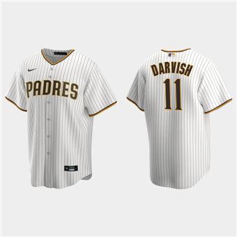 Men's San Diego Padres #11 Yu Darvish White Stitched Baseball Jersey