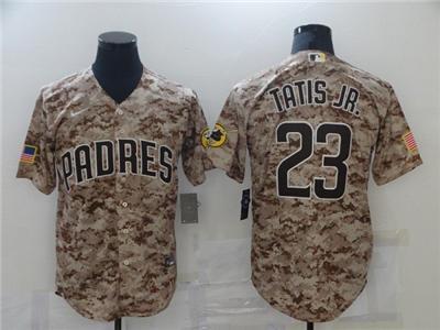 Men's San Diego Padres #23 Fernando Tatis Jr. 2021 Camo Cool Base Stitched Baseball Jersey