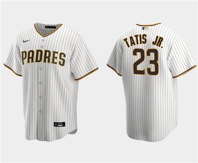 Men's San Diego Padres #23 Fernando Tatis Jr. White Stitched Baseball Jersey