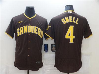 Men's San Diego Padres #4 Blake Snell 2020 Brown Flex Base Stitched Baseball Jersey