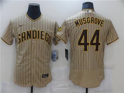 Men's San Diego Padres #44 Joe Musgrove Tan Brown Flex Base Stitched Baseball Jersey