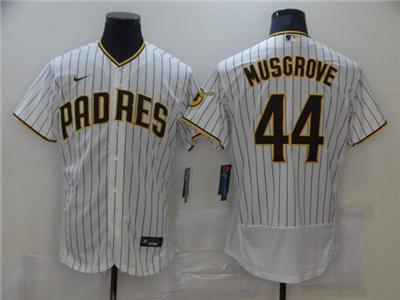 Men's San Diego Padres #44 Joe Musgrove White Flex Base Stitched Baseball Jersey