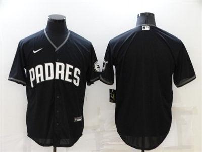 Men's San Diego Padres Blank Black Cool Base Stitched Baseball Jersey