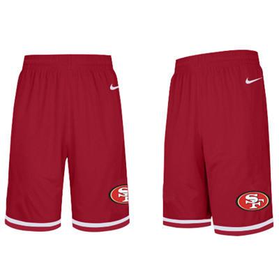 Men's San Francisco 49ers Black Knit Performance Shorts (Runs smaller)