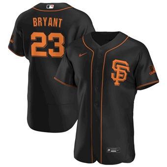 Men's San Francisco Giants #23 Kris Bryant Black Flex Base Stitched Baseball Jersey