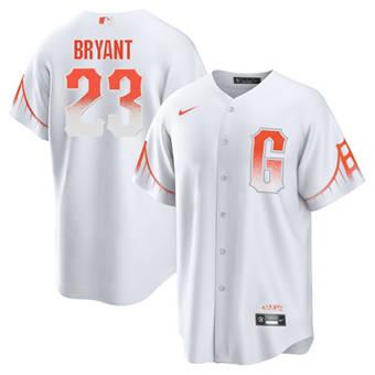 Men's San Francisco Giants #23 Kris Bryant White City Connect Cool Base Stitched Baseball Jersey