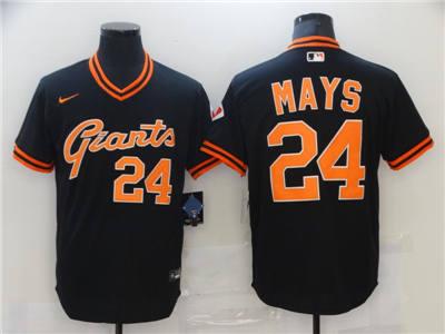 Men's San Francisco Giants #24 Willie Mays Black Cool Base Stitched Baseball Jersey