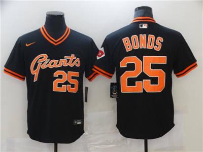 Men's San Francisco Giants #25 Barry Bonds Black Cool Base Stitched Baseball Jersey