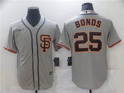 Men's San Francisco Giants #25 Barry Bonds Gray Cool Base Stitched Baseball Jersey