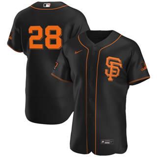 Men's San Francisco Giants #28 Buster Posey 2020 Black Alternate Authentic Player Baseball Jersey