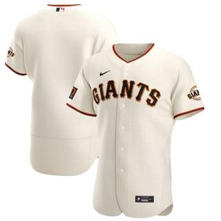 Men's San Francisco Giants 2020 Cream Home Authentic Team Baseball Jersey