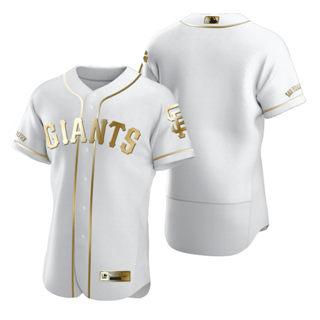 Men's San Francisco Giants Blank White 2020 Authentic Golden Edition Baseball Jersey