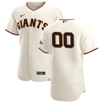 Men's San Francisco Giants Custom Cream Home 2020 Authentic Player Baseball Jersey