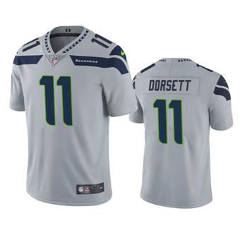Men's Seahawks #11 Phillip Dorsett Gray Stitched Football Vapor Untouchable Limited Jersey