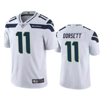 Men's Seahawks #11 Phillip Dorsett White Stitched Football Vapor Untouchable Limited Jersey
